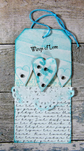 How to Create Wedding Themed  Tags With Hearty Doodles Stamps 6