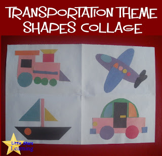Little Stars Learning Transportation Collage W Template
