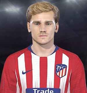 PES 2018 Faces Antoine Griezmann by Facemaker Ahmed El Shenawy