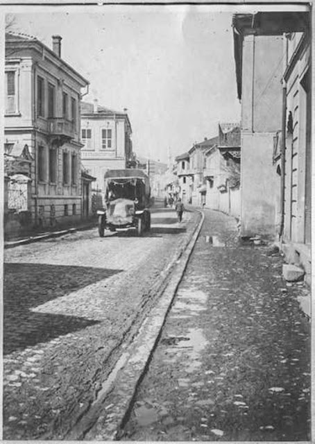 In the streets of Bitola (Monastir) - March 1917.