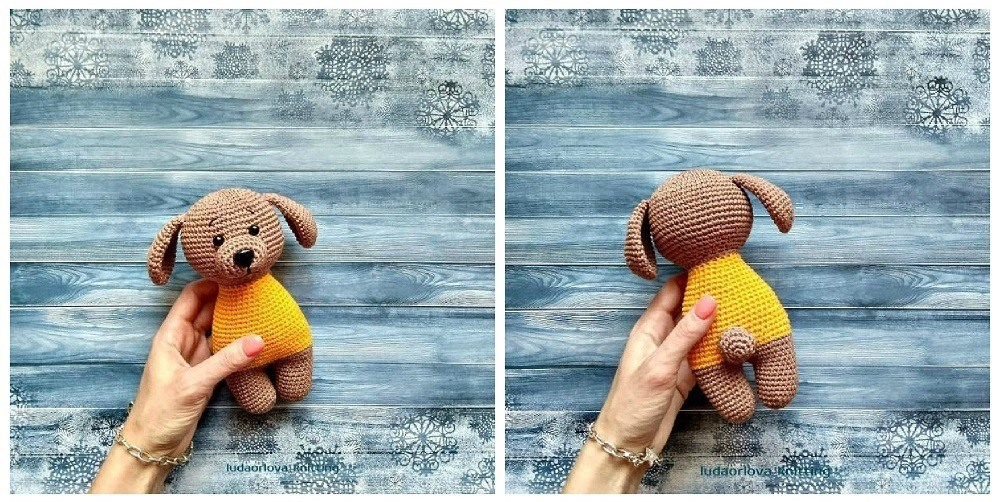 Crochet dog amigurumi pattern