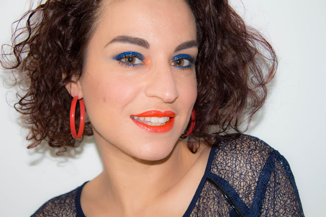 maquillage-orange-bleu