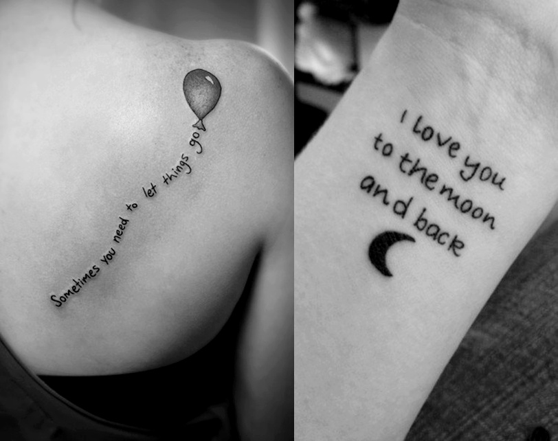 I Love You To The Moon And Back Tattoo Ideas