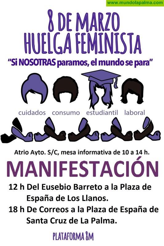 El Ayuntamiento de Santa Cruz de La Palma apoya la huelga del 8 de marzo en pro de la igualdad