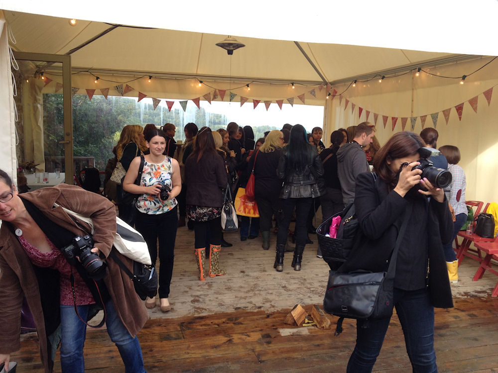 Picture of Bloggers socialising at Blog Camp River Cottage