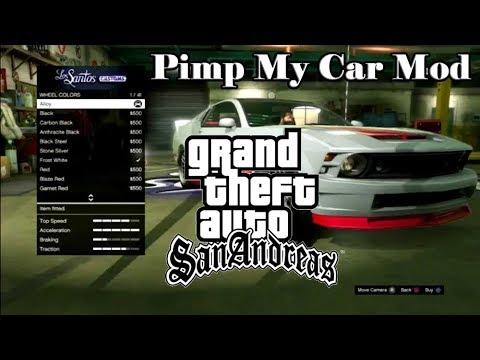 Pimp My Car Mod for GTA San Andreas PC