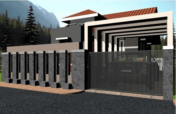 41 Desain Pagar Rumah Minimalis Modern Dan Terindah - DISAIN RUMAH KITA
