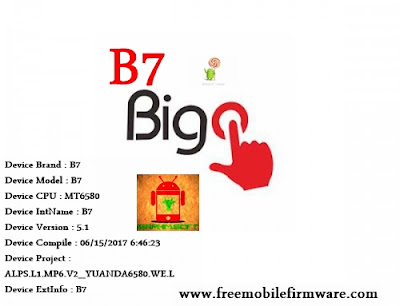 Guide To Flash Bigo B7 MT6580 Lollipop 5.1 Via SP Flashtool