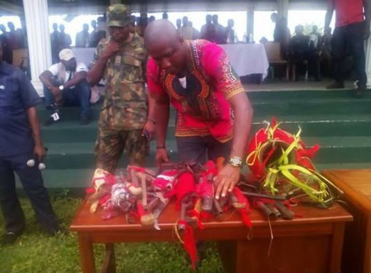 Photos Of Weapons and Charms Recovered From Cultists In Rivers State