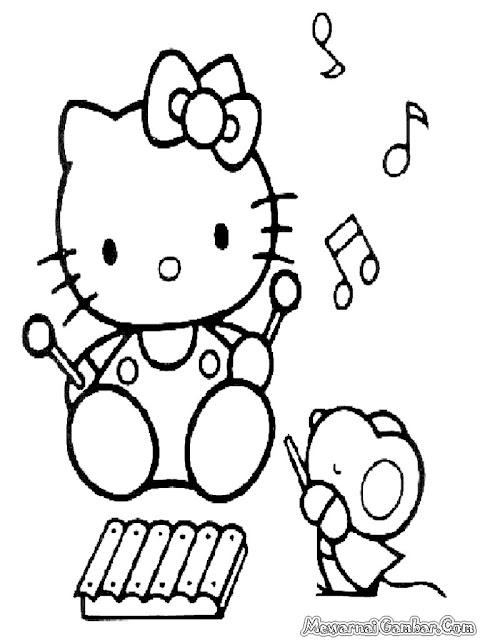 Hello Kitty Belajar Bermain Musik