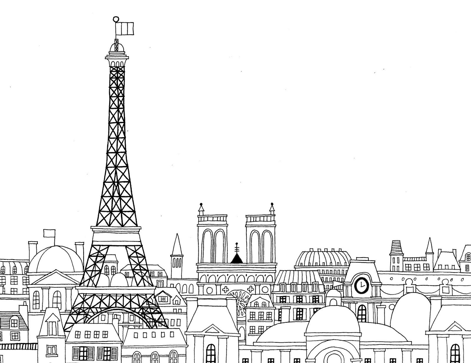 Dessins Et Coloriages 5 Coloriages De Paris En Ligne A