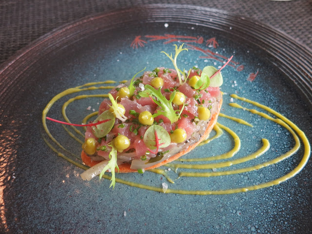 Yellow Fin Tuna Tartare Tart