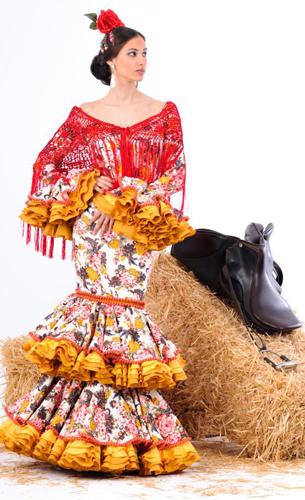 vestidos de flamenca 2016 Margarita Freire