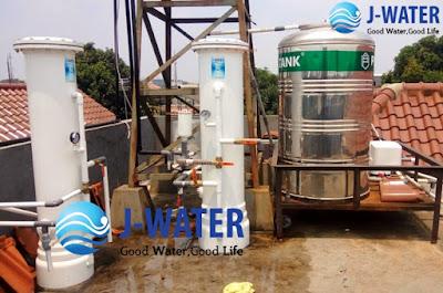 pemasangan filter air sumur bor sesudah toren