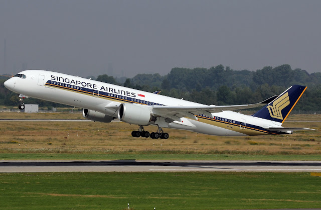 singapore airlines a350-900 takeoff