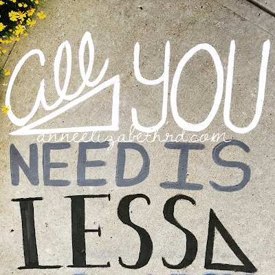 Inspirational Quote Minimalism: All You Need is Less