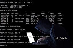 Menyembunyikan Partisi Seperti Hacker dengan CMD