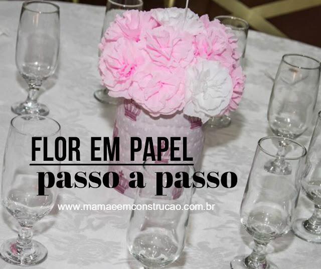 flores em papel decoração