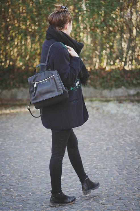 beautyelfe outfit wolljacke mit stickerei und schwarzen. Black Bedroom Furniture Sets. Home Design Ideas