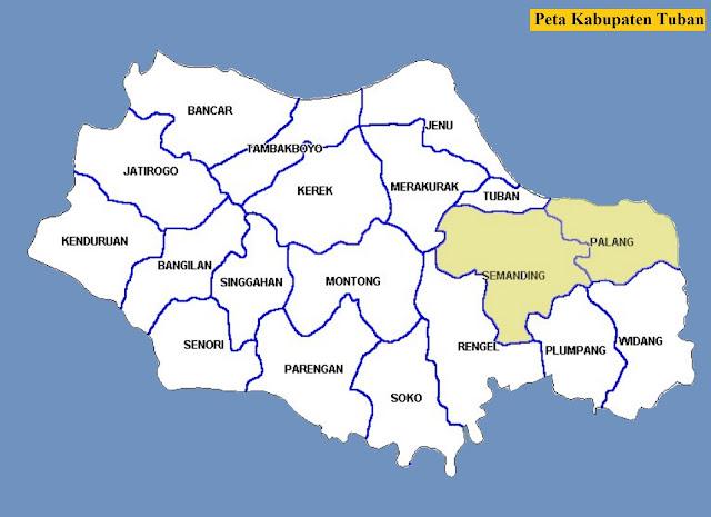 Peta Kabupaten Tuban