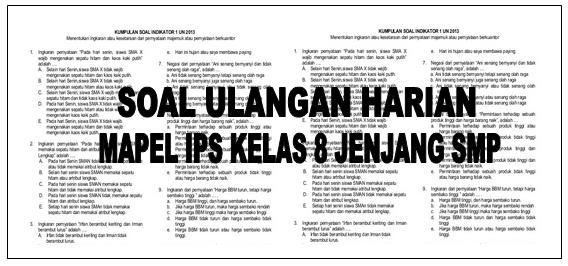 DOWNLOAD LATIHAN SOAL ULANGAN HARIAN KELAS 8 MAPEL IPS