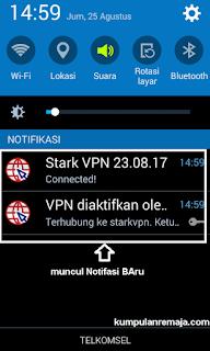 2 notifikasi baru dari Stark VPN