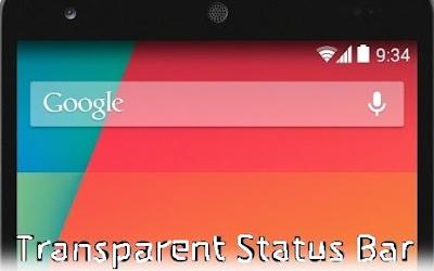 Trick Membuat Statusbar Ponsel Android Menjadi Transparan TERBARU