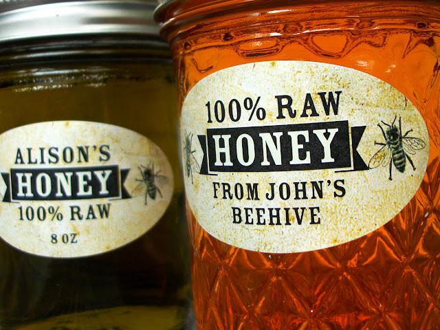 Custom Vintage Oval Honey Jar Labels