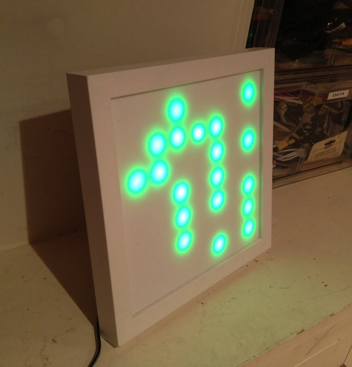 john graham cumming turning ge color effects g 35 christmas lights into a 7x7 display with arduino