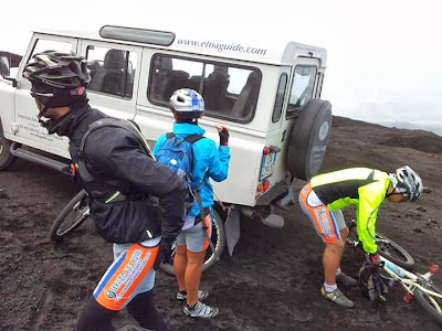 downhill etna volcano sicily guided tours MTB rental