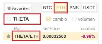 Comprar en Binance y Coinbase con Euros/Dolares Criptomoneda Futuro Theta Token (THETA)