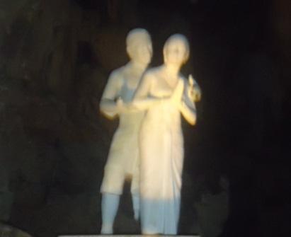 Patung Raden Kamandaka Memadu Kasih dengan Dewi Ciptoroso