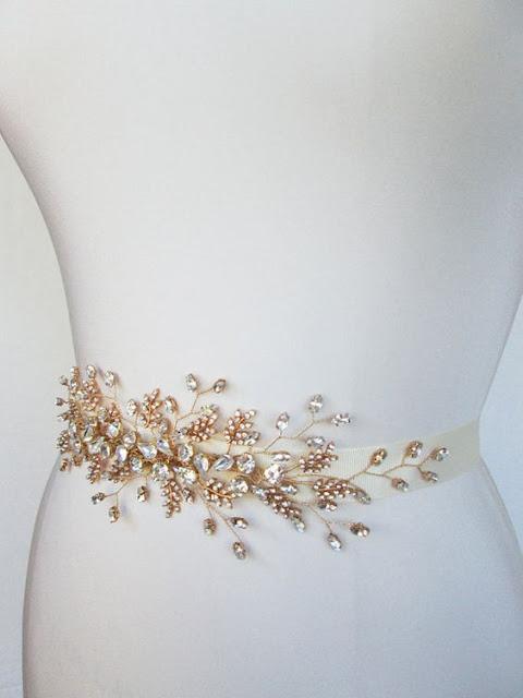 Amazing sashes for brides for Gold belt for wedding dress