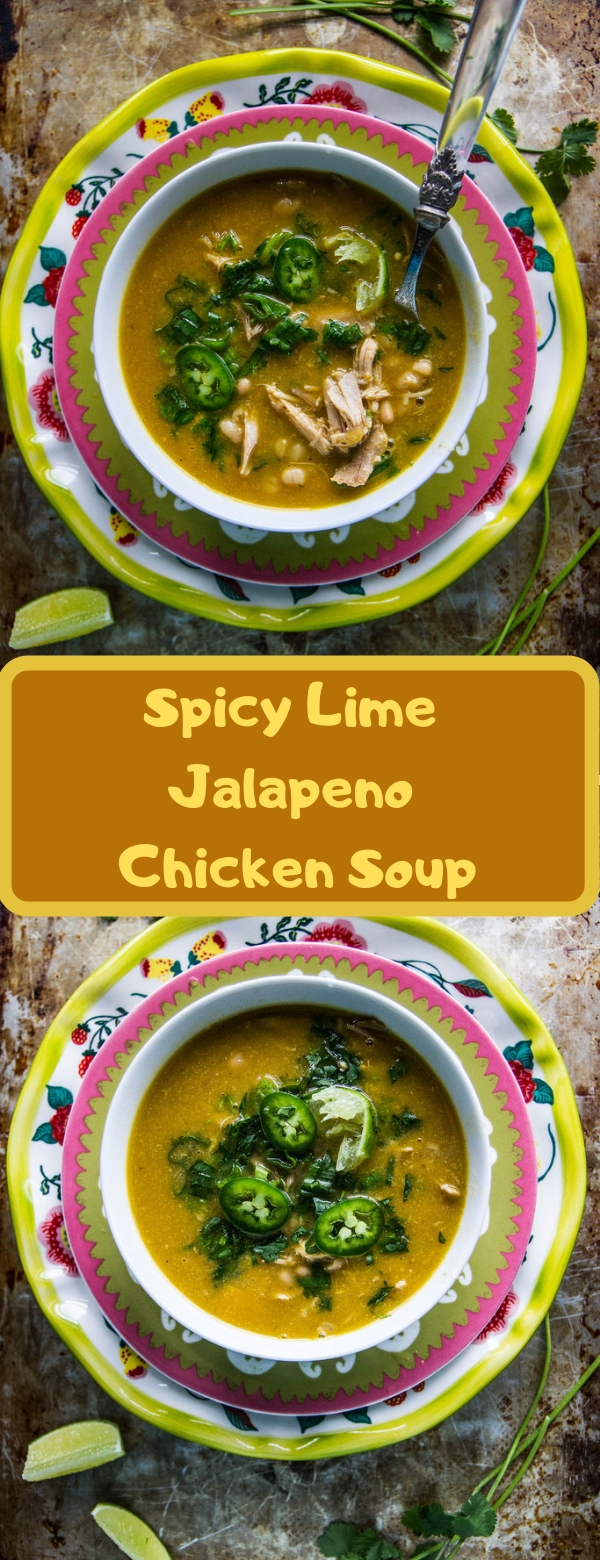 Spicy Lime Jalapeno Chicken Soup
