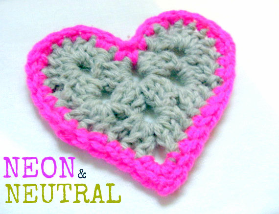 granny square heart crochet pattern