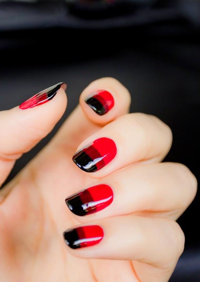 Red Black Nail Polish Designshttp://nails-side.blogspot.com/