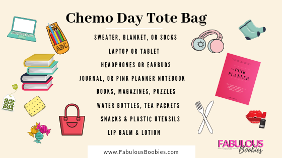 Chemo Day Tote Bag Graphic | Fabulous Boobies Blog by Nicole McLean