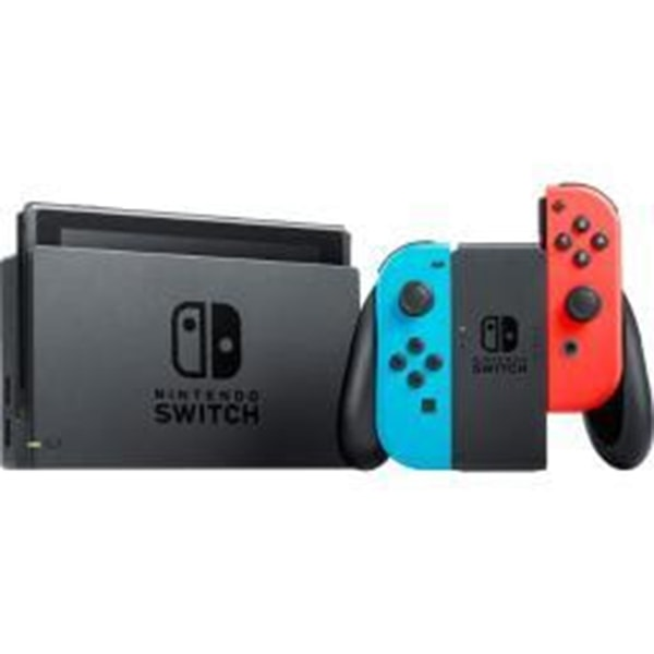 Nintendo Switch Console with Neon Blue and Red Joy-Con Wireless Controllers only $269.99 (was $499.99) with Free Shipping.