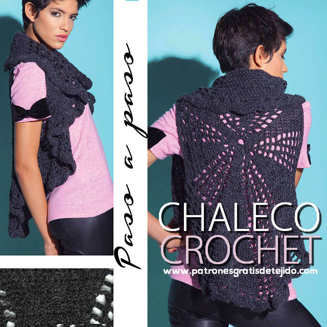 tutorial chaleco crochet
