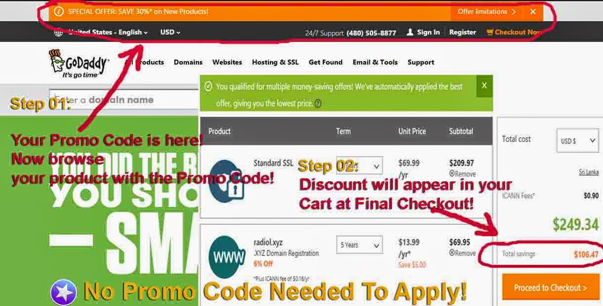 These $ coupon codes are only valid for new customers who has never used this kind of coupon before to register a etransparencia.ml domains. Some coupon codes can also used to transfer domain .