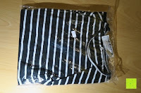 Verpackung: AIYUE Frauen Monochrom Streifen mit kurzen Hülsen Etuikleid Figurbetontes Kleid Partykleid Clubwear
