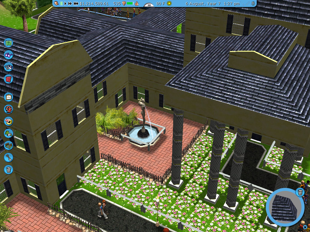 Roller Coaster Tycoon 3 Downloads: RCT3 Colonial Country Club Structure