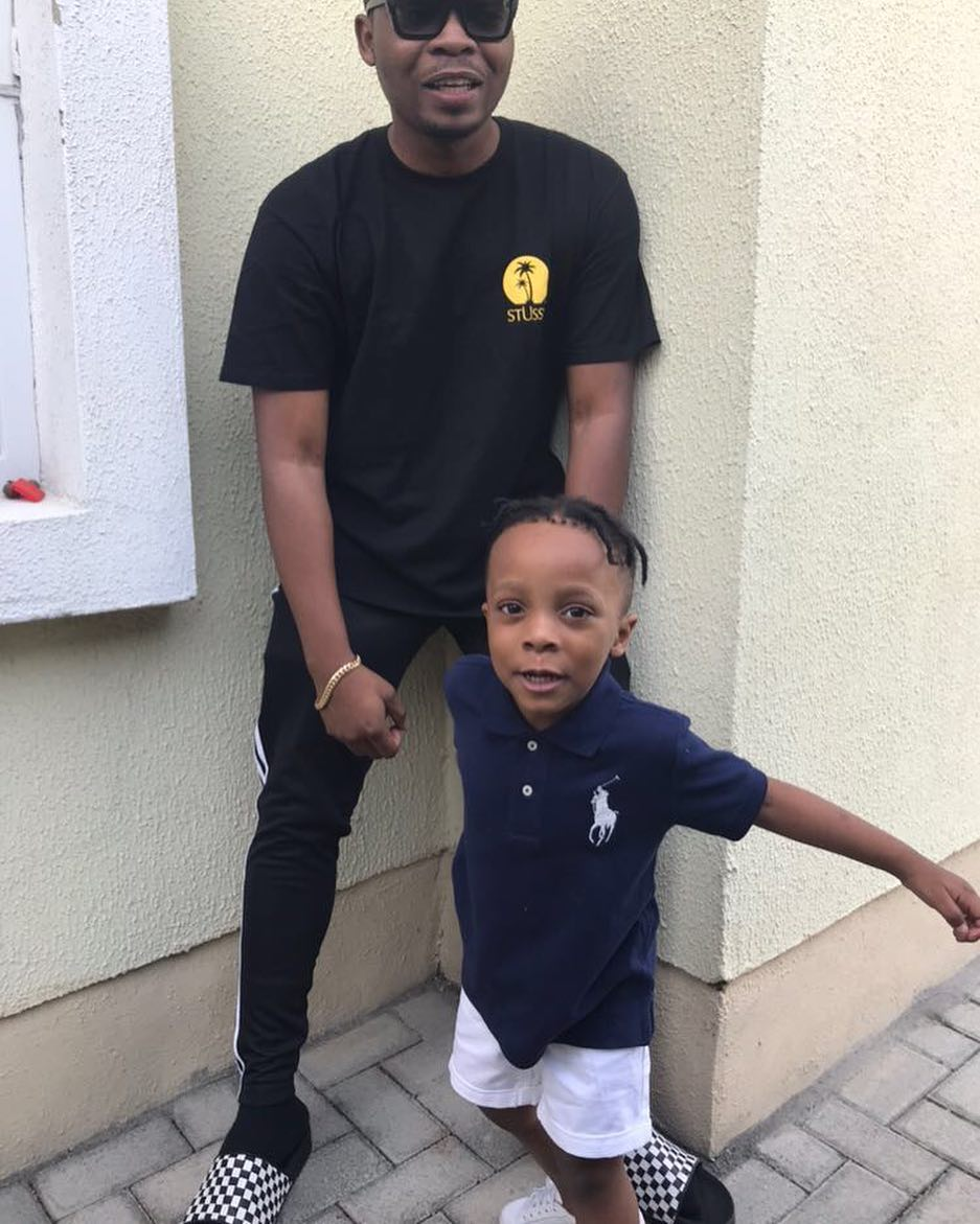 Olamide Shows Off His Son's New Hairstyle, Hit Or Missed