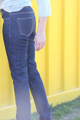 Ginger jeans side view