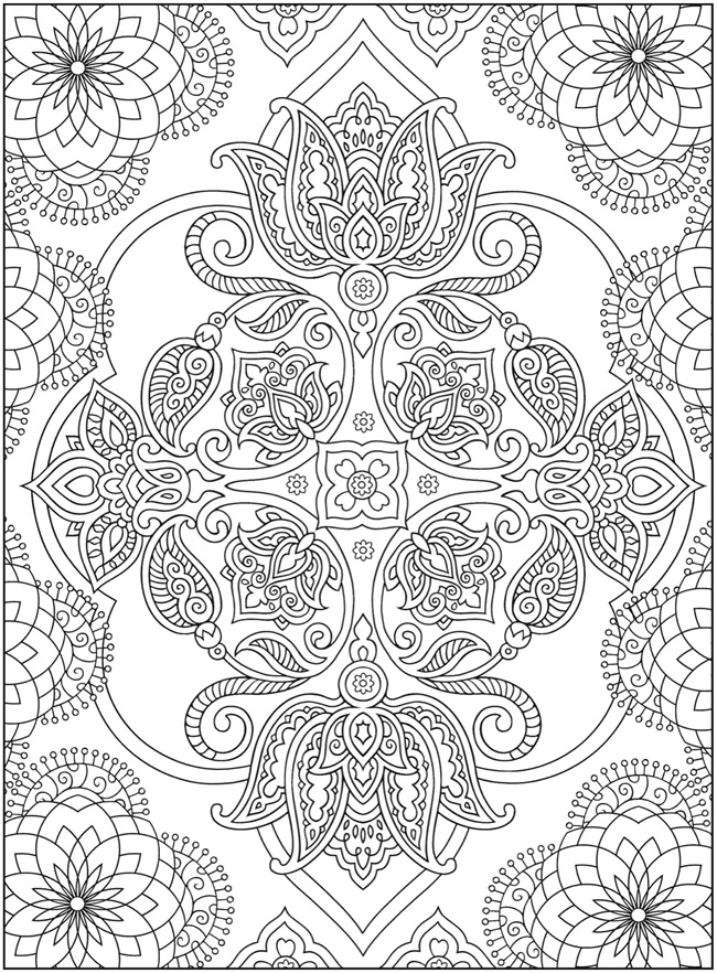 creative designs coloring pages | Dragonfly Treasure: Creative Haven Mehndi Designs Coloring ...
