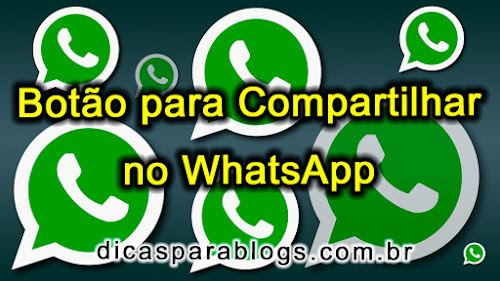 Adicionar link ou botão para compartilhar no WhatsApp