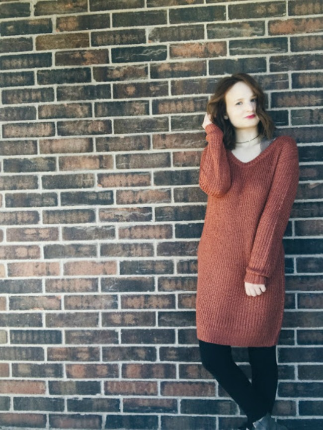 Fall Outfit | Sweater Dress