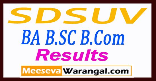 SDSUV Sri Dev Suman Uttarakhand University BA B.SC B.Com 1st-2nd-3rd Year Results 2018