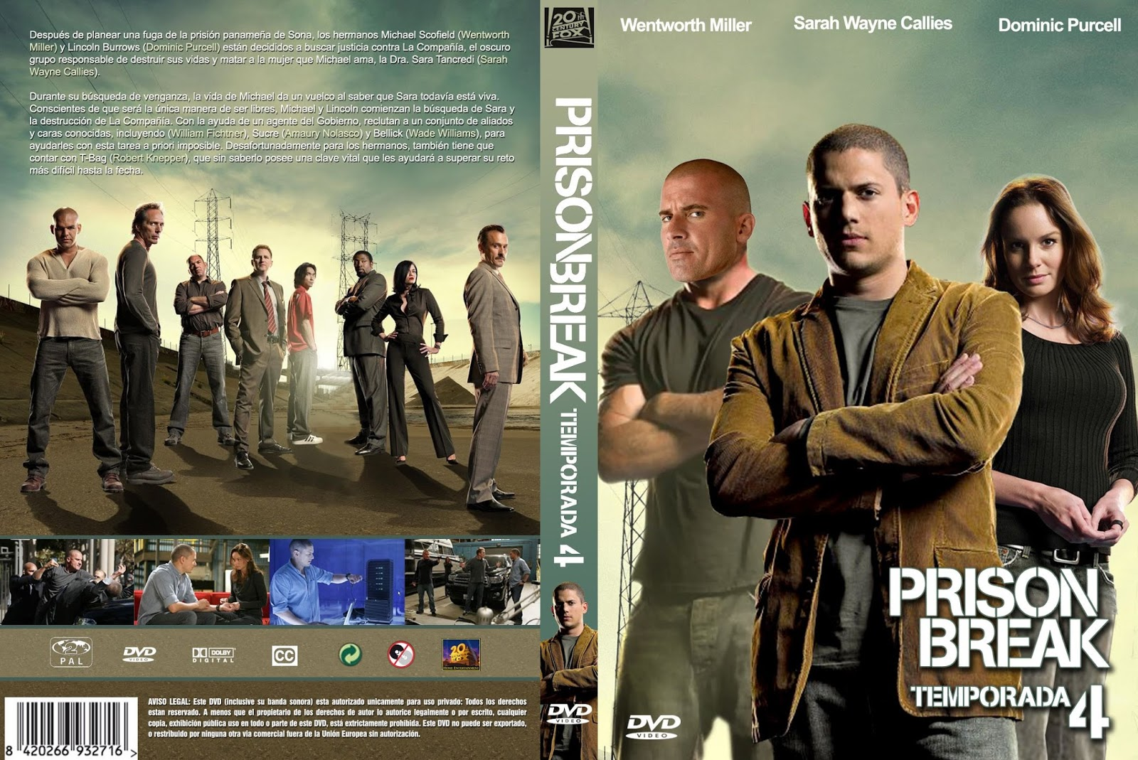 Prison Break Todas 1,2,3 y 4 (HD 720p) Dual - Identi