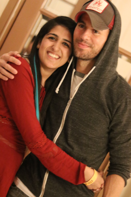 Enrique Iglesias with Annie Munjaal